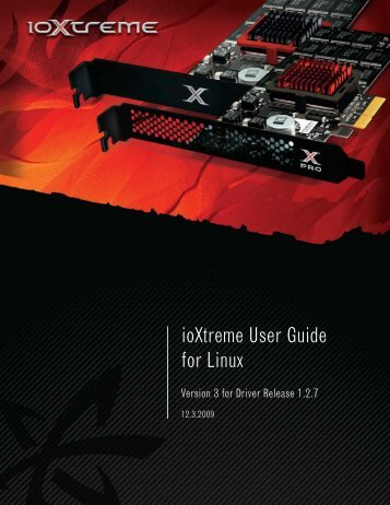 for Linux ioXtreme User Guide - Fusion-io