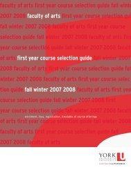 FYCSG 07-08 REV2 newPDF - Faculty of Liberal Arts & Professional ...
