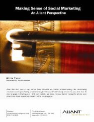 White Paper: Making Sense of Social Marketing - The Allant Group