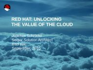 RED HAT: UNLOCKING THE VALUE OF THE CLOUD - Magirus