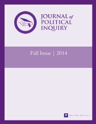 Journal of Political Inquiry Fall 2014