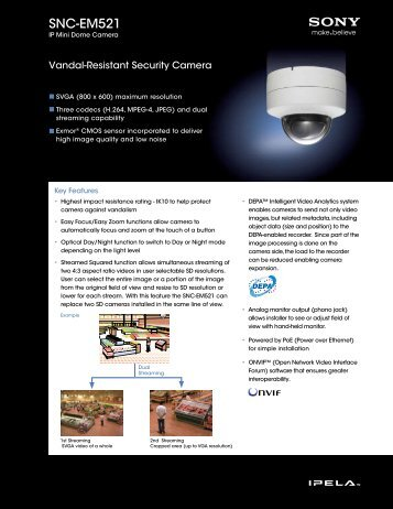 Product Specification: Sony SNC-EM521 - Network Webcams