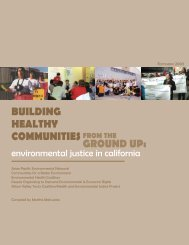 Building Healthy Communities from the Ground Up - California ...