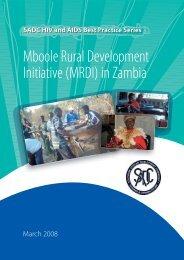 Mboole Rural Development Initiative (MRDI) in Zambia - SAfAIDS