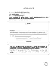 EDITAL DE LICITAÇÃO Modalidade: PREGÃO ELETRÔNICO N.º15 ...