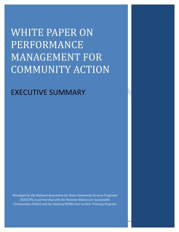 Draft of Executive Summary - NASCSP