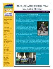 RDOS—BOARD HIGHLIGHTS of June 7, 2012 ... - Rdosmaps.bc.ca