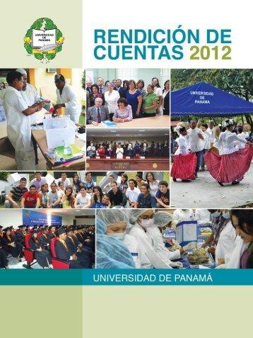 Rendición de Cuentas 2012 - Universidad de Panamá