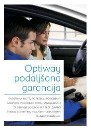 Optiway podaljšana garancija - Peugeot.si