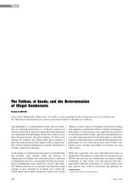The Taliban, al Qaeda, and the Determination of Illegal Combatants