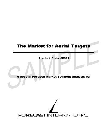 The Market for Aerial Targets - Forecast International