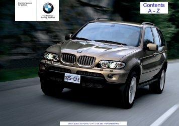 2004 X5 4-8is SAV Owner's Manual.pdf - Wedophones.com ...