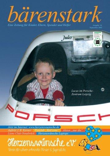 Lucas im Porsche- Zentrum Leipzig Eine Zeitung für Kinder, Eltern ...