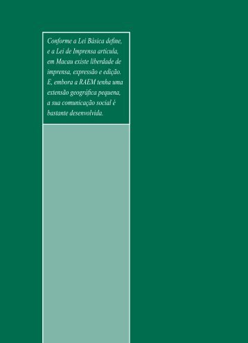 Comunicação Social, Telecomunicações e ... - Macao Yearbook