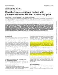 Revealing representational content with pattern-information fMRI ...