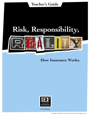 Risk Responsibility Reality Teacher Guide