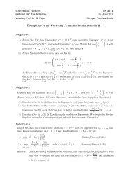 Serie 4 - Lehrstuhl Numerische Mathematik - Universität Rostock