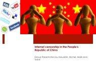 Internet censorship in the People's Republic of China - Cronkitezine