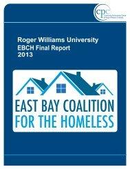 East Bay Coalition for the Homeless - Roger Williams University