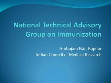 Ambujam Nair Kapoor Indian Council of Medical ... - The INCLEN Trust