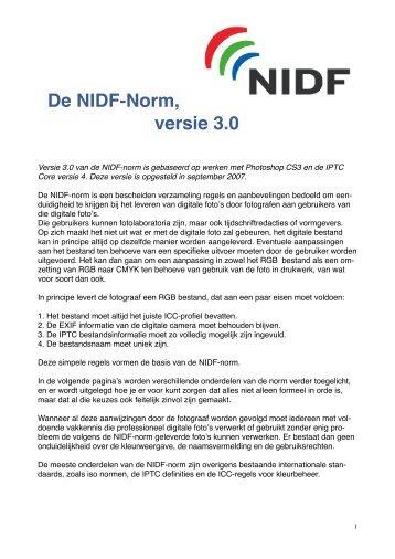 De NIDF-Norm, versie 3.0