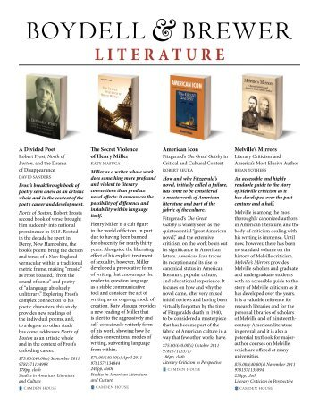 Literature - University of Rochester Press