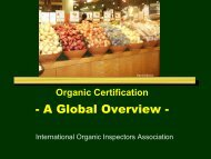 A Global Overview - Independent Organic Inspectors Association