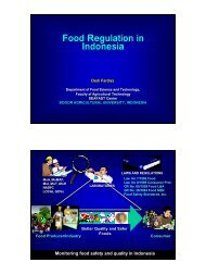 Food Regulation in Indonesia - Singapore Manufacturing Federation