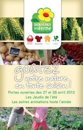 Gouter notre nature en toute saison - Chambre d'agriculture