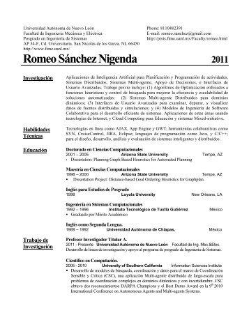 Romeo Sánchez Nigenda - Universidad Autónoma de Nuevo León
