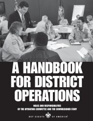 A Handbook for District Operations - Boy Scouts of America