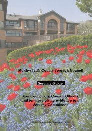 Scrutiny Good Practice Guide - Merthyr Tydfil County Borough Council