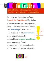 La lettre du centre du Graphisme d'Échirolles, juin 2012