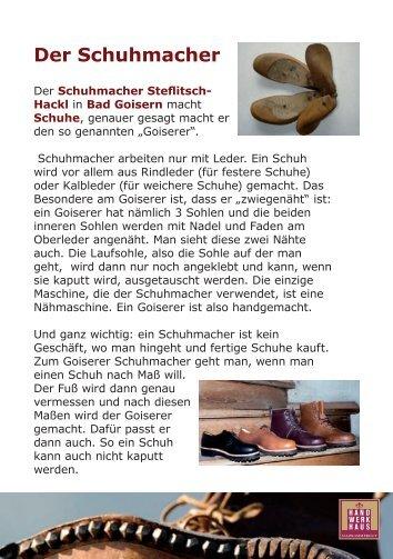 Der Schuhmacher - Hand.Werk.Haus