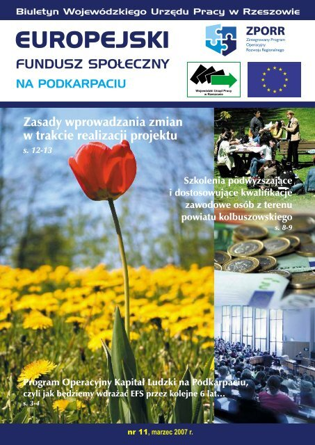 Biuletyn Europejski Fundusz Społeczny na Podkarpaciu nr 11 ...