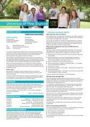 University of New England - Universities Admissions Centre