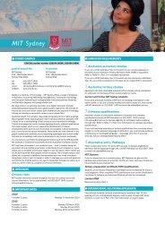 MIT Sydney - Universities Admissions Centre
