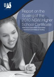 Report on the Scaling of the 2010 NSW Higher School Certificate
