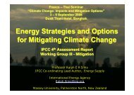 Energy Strategies and Options for Mitigating Climate Change