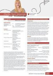 Charles Sturt University - Universities Admissions Centre
