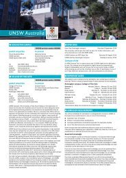 University of New South Wales - Universities Admissions Centre