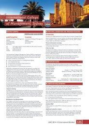 International College of Management, Sydney - Universities ...
