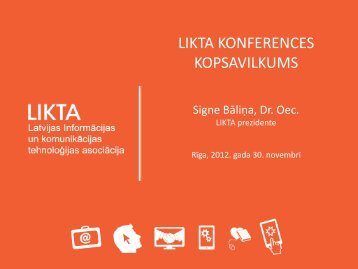 Signe Balina - LIKTA konference 2012