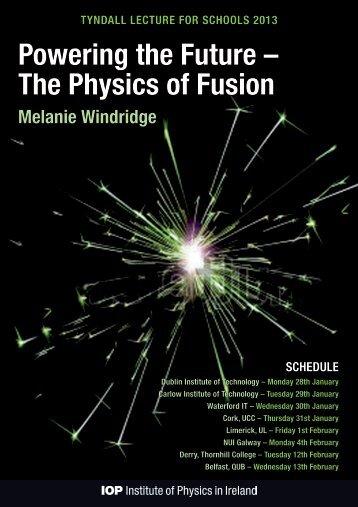 Melanie Windridge - The Institute of Physics in Ireland