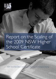 Report on the Scaling of the 2009 NSW Higher School Certificate
