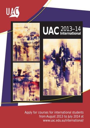UAC 2014 International booklet - Universities Admissions Centre