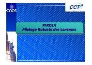 PIROLA Pilotage Robuste des Lanceurs - LAAS CNRS