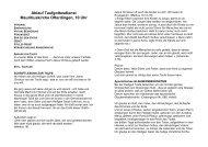 Ablauf Taufgottesdienst und organisatorische Hinweise