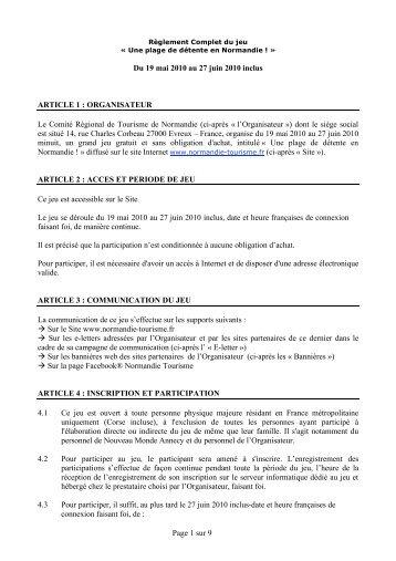 Page 1 sur 9 Du 19 mai 2010 au 27 juin 2010 inclus ... - Normandie