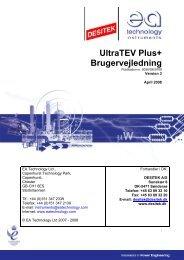 UltraTEV Plus+ Brugervejledning - DESITEK A/S